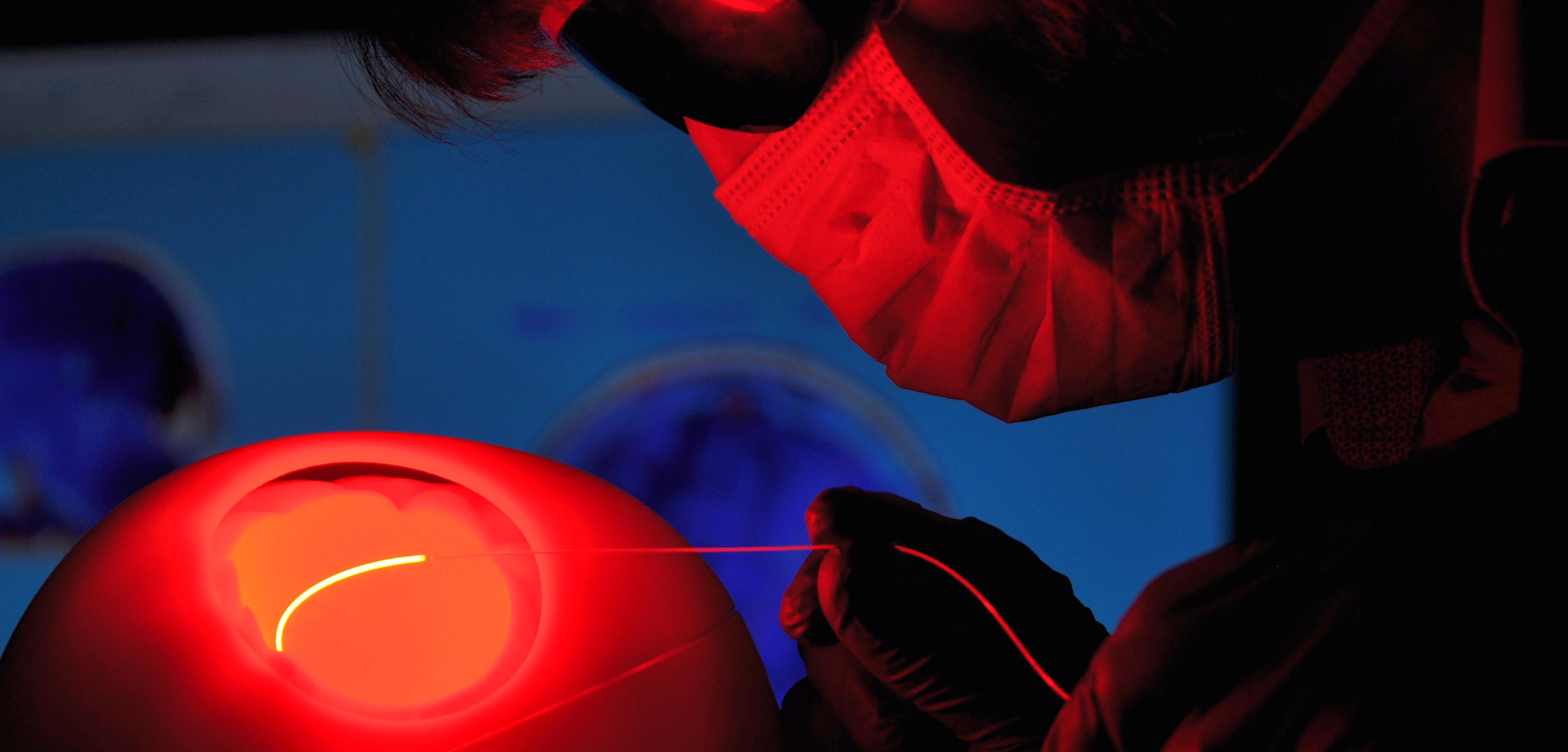 Etalonnage fibre laser sur banc de simulation pour le projet PDT